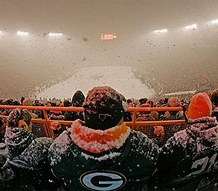 Green Bay-Seattle sotto la neve