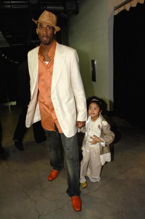 Kobe con la piccola Natalia Diamante