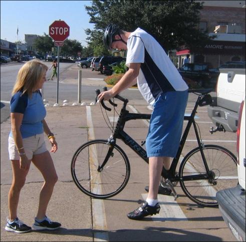 La bicicletta di Shawn Bradley