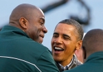 Barack Obama, Magic Johnson