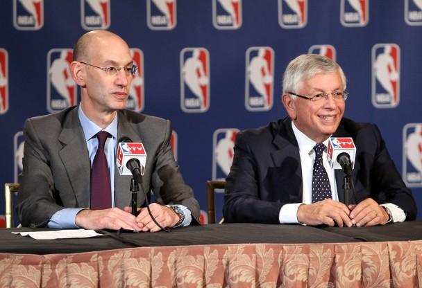 David Stern (a destra per chi mai non lo conoscesse) e Adam Silver, suo successore