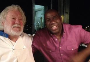 Magic con il proprietario della Locanda Lorena, all'Isola Palmaria, Cinque Terre, La Spezia
