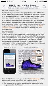 Le istruzioni su come vincere la possiblità di acquistare le scarpe