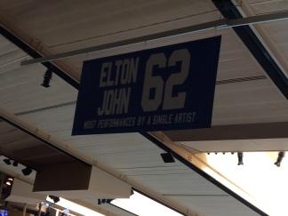 Elton John, il performer piú presente al Madison con 62 concerti