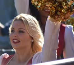 Una cheerleader dei 49ers alla partita contro i Rams (F. Marinari)