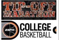 Il logo della tip off marathon di Espn