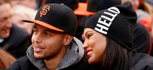 Stephen Curry con la moglie